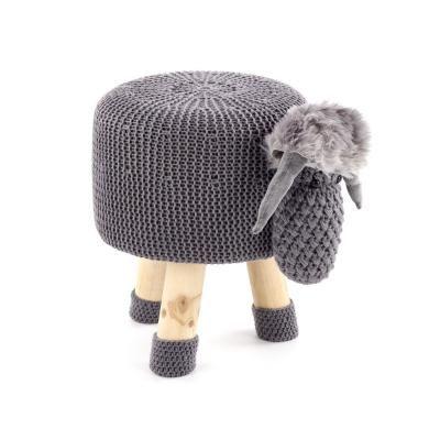 Kötött ülőke, sötétszürke bárány - MOUTON